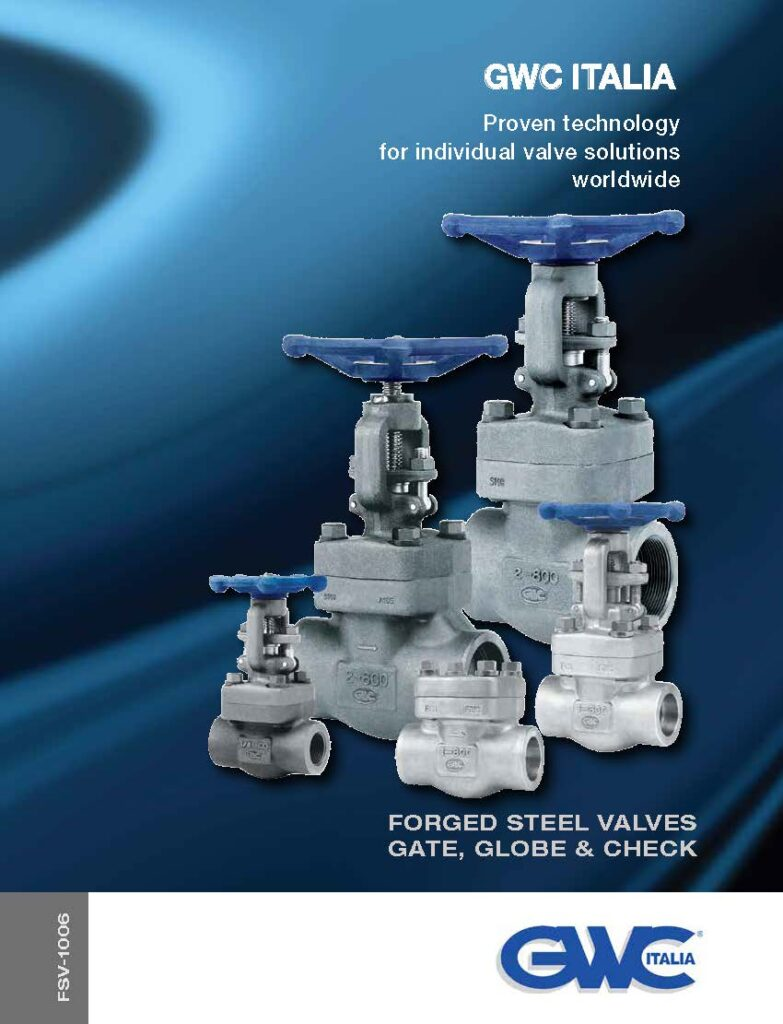 Catalogue Forged Steel Gate, Globe, Check Valves