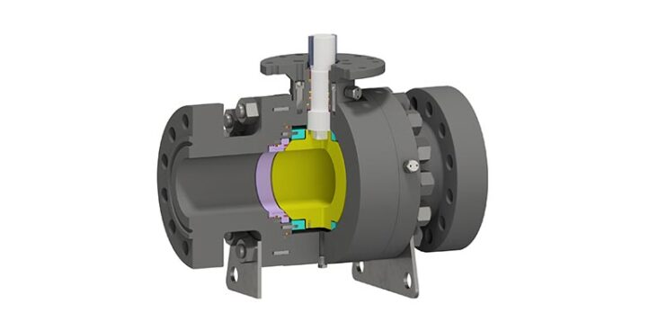 Trunnion Mounted Ball Valve Side Entry Bolted Body