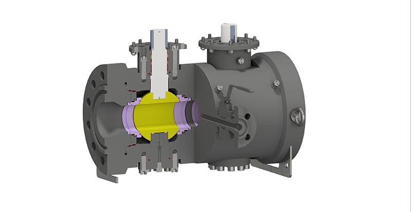 Trunnion Mounted Side Entry Twin Ball Valve